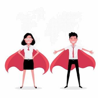 Carattere di creatività caratteristica studente indossa costume di supereroe