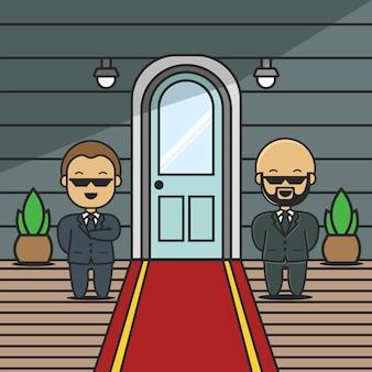 Carattere di guardie d'ingresso