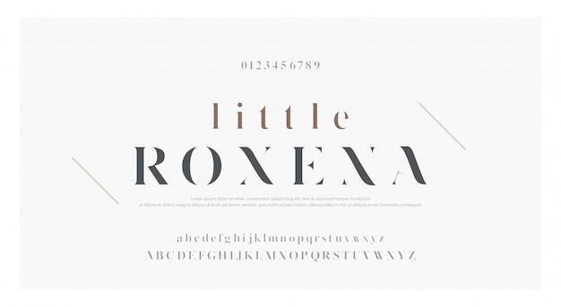 Carattere di lettere di alfabeto classico elegante lettering