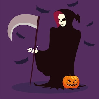 Carattere di morte per felice halloween