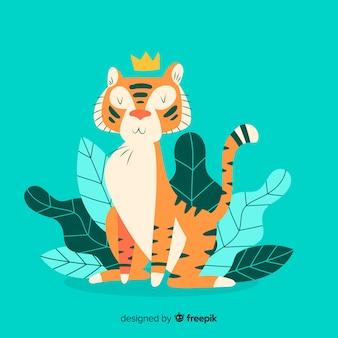 Carattere di tigre disegnato a mano incantevole