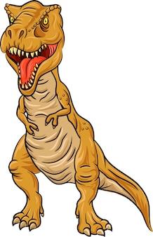 Carattere di tirannosauro rex isolato su sfondo bianco