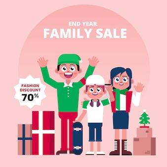 Carattere di vendita della famiglia di fine anno