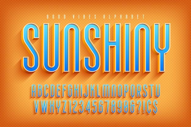 Carattere di visualizzazione 3d sunshiny