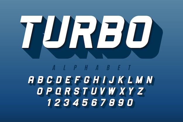 Carattere dinamico con alfabeto, lettere e numeri