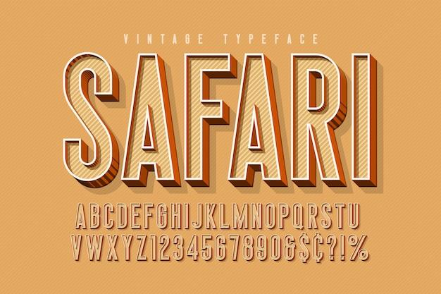 Carattere display safari 3d