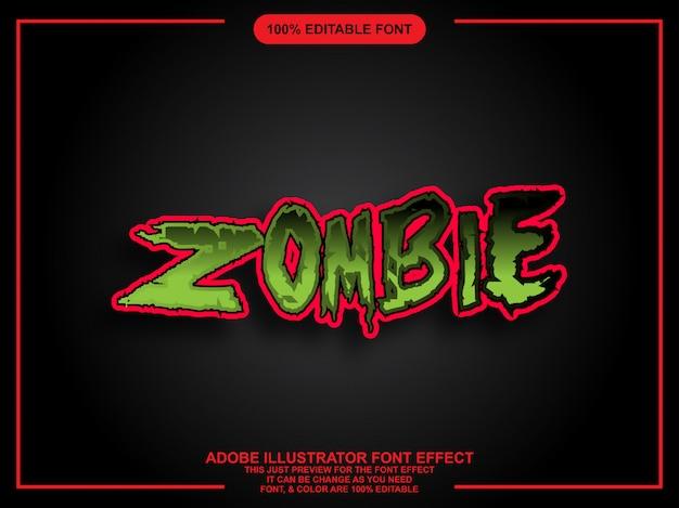 Carattere grafico modificabile facile stile grafico di zombie