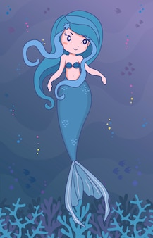 Carattere indaco sirena