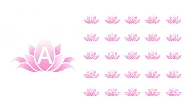 Carattere lettera fiore alfabeto