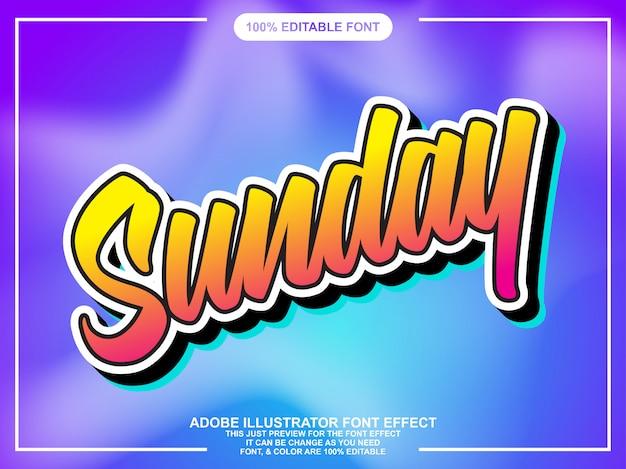 Carattere moderno script colorato effetto font