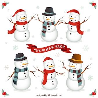 Carattere pacchetto snowman