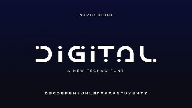 Carattere techno digitale