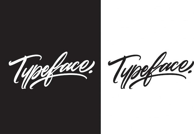 Carattere tipografico di handlettering