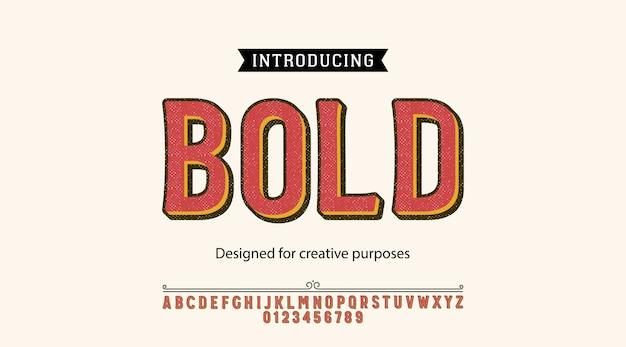 Carattere tipografico di new york. per etichette e design di tipi diversi
