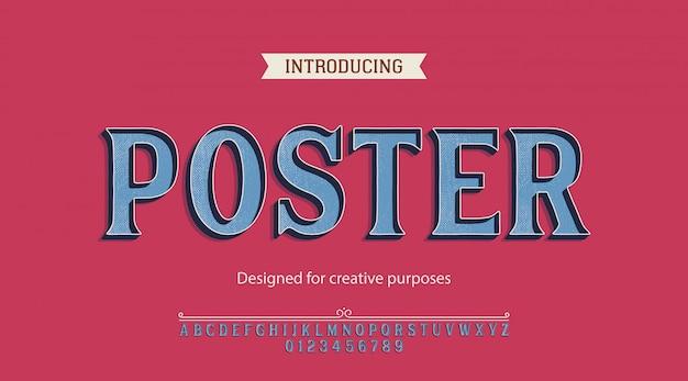 Carattere tipografico di poster. per scopi creativi