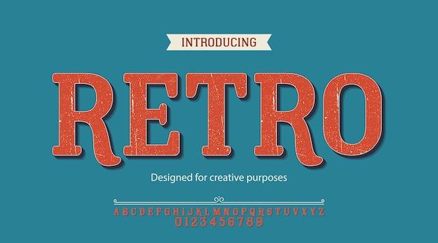 Carattere tipografico retrò. per scopi creativi