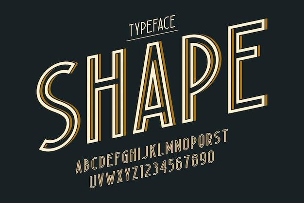 Carattere tipografico vintage decorativo, carattere, carattere tipografico, tipografia