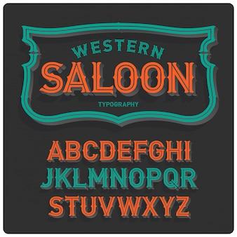 Carattere tipografico vintage in stile occidentale