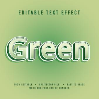 Carattere verde decorativo
