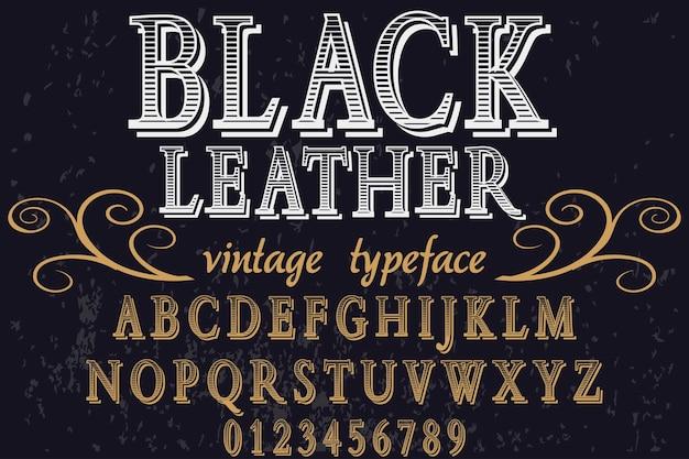 Carattere vintage in pelle nera