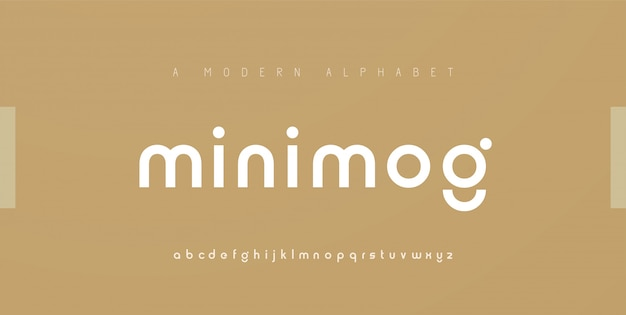 Caratteri di alfabeto moderno minimal astratto. carattere creativo tipografico minimalista urbano digitale moda futuro logo creativo