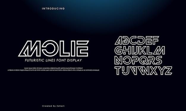 Caratteri di alfabeto oro serif astratto.
