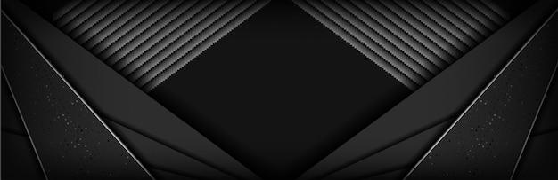 Carbonio nero di lusso astratto