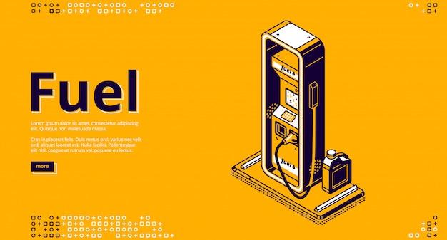 Carburante, servizio di rifornimento di petrolio isometrico