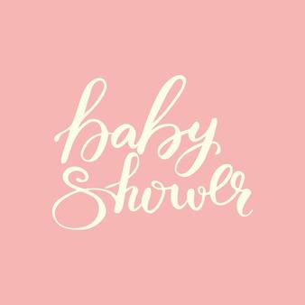 Card design con lettering baby shower. illustrazione vettoriale
