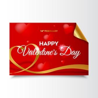Card elegant valentine's day