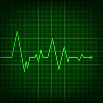 Cardiogramma a linea di cuore, pulsazione medica di battito cardiaco.