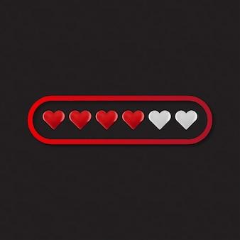 Caricamento del cuore di amore di valentine day
