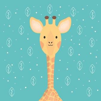 Carina adorabile personaggio giraffa