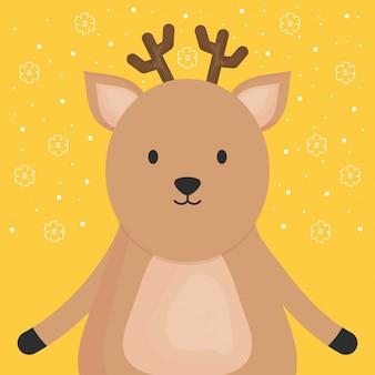 Carina renna adorabile personaggio