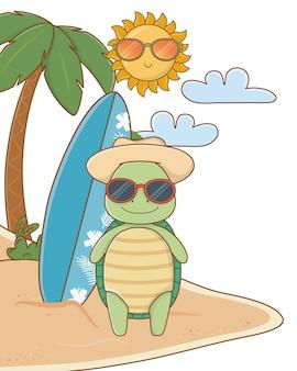 Carino animale godendo le vacanze estive