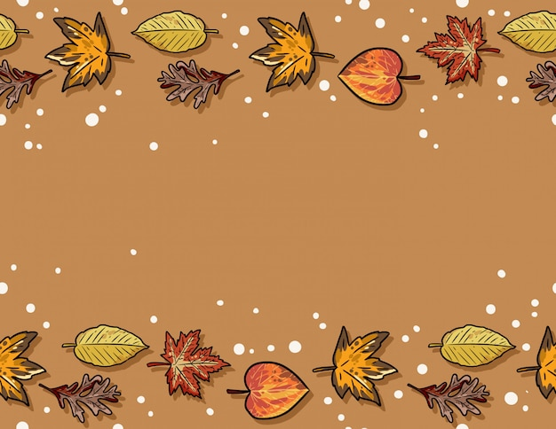 Carino autunno acero e foglie di olmo senza cuciture