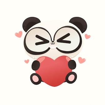 Carino baby panda love