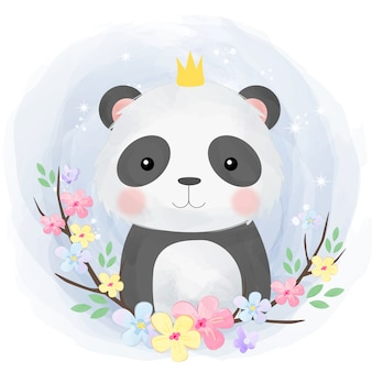 Carino baby panda