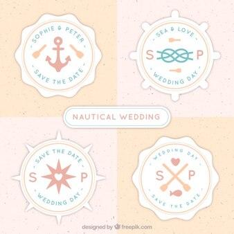 Carino badge nautiche per le nozze