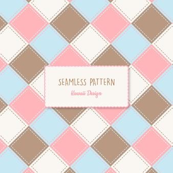 Carino colori pastello patch seamless pattern