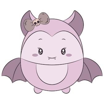 Carino disegno pipistrello femminile per halloween