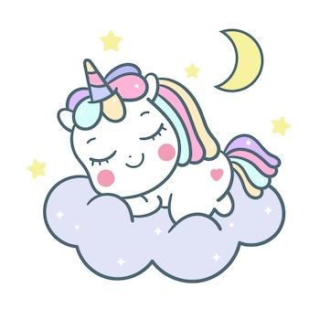 Carino dolce sogno unicorno