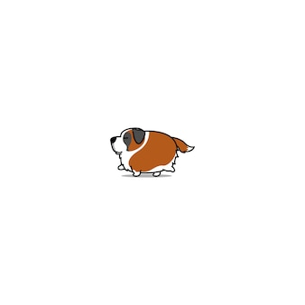 Carino icona di camminare cane grasso san bernardo