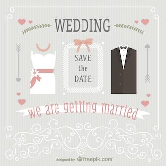 Carino invito a nozze