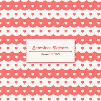Carino kawaii cuori seamless pattern
