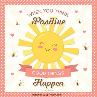 Carino lettering a pensare positivo
