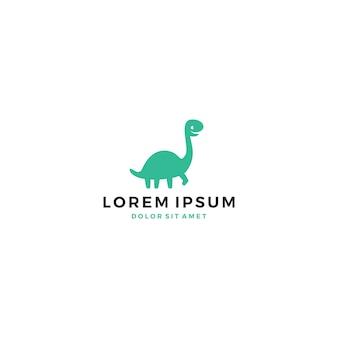 Carino logo dino dinosauro