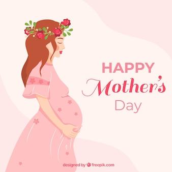 Carino, madre, giorno, fondo