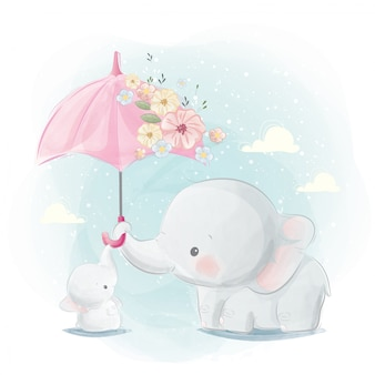 Carino mamma ed elefantino