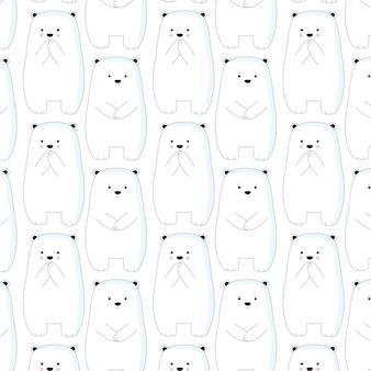 Carino modello di orso polare